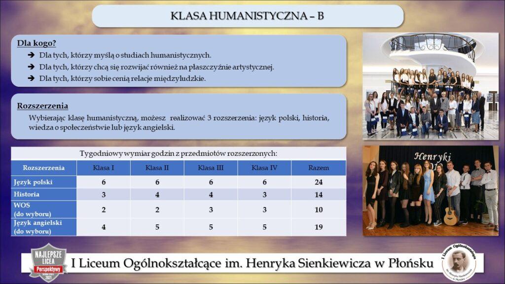Klasa humanistyczna B